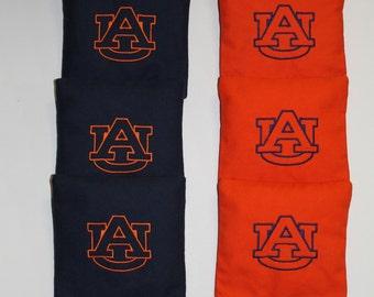AUBURN AU Tigers Embroidered Cornhole Baggo Bean Corn Bags ACA
