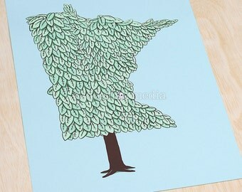 Minnesota Grown - MN Tree Screen Print Poster