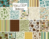 TRAIL MIX Northwoods - Fat Quarter Bundle - by Bo Bunny for Riley Blake Designs Fabrics - 21 FQs