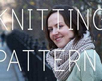 Knitting Pattern - Infinity Scarf - Easy/Intermediate - Digital Download