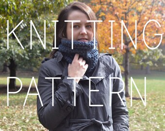Knitting Pattern - Simple Neck Cowl - Easy - Beginner - Digital Download