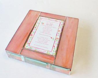 Stained Glass Keepsake Gift Box Bat Mitzvah Invitation Divided Jewely Box Custom Made-to-Order