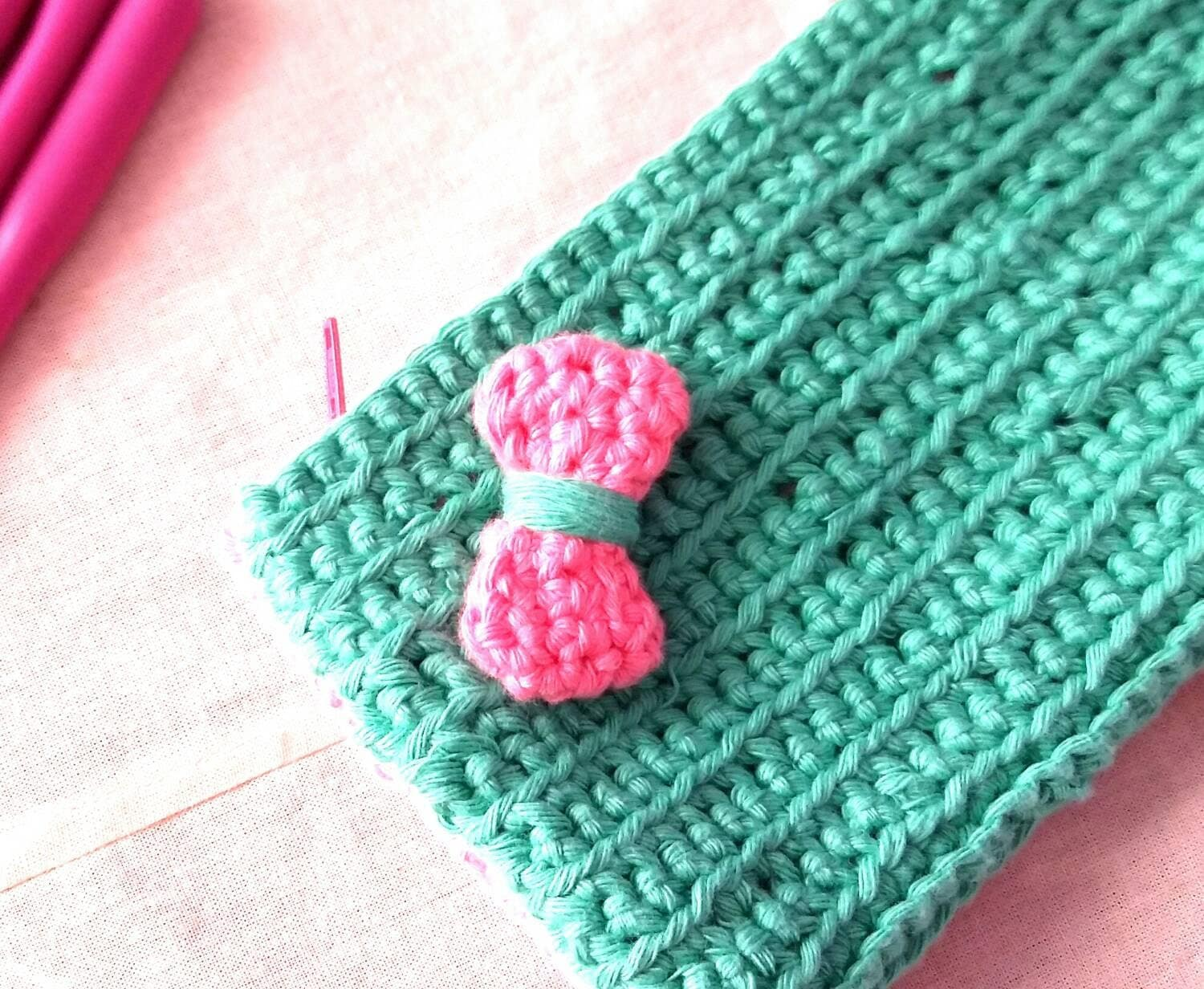 Crochet tool/pencil case / gift for girls / by ...