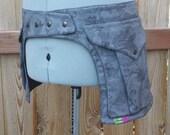 Grey and Black Floral - Pocket Belt - Utility belt - Hip bag - Festival - Fanny pack - Saddlebag - Unisex design