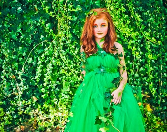 Poison Ivy Costume for Kids | Poison Ivy Tutu Dress | Poison Ivy Costume | Poision Ivy Halloween Costume | Kids Girls Costume