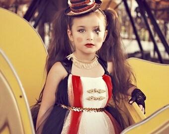 Atutudes Circus Ringmaster Tutu Dress | Circus Ringmaster Halloween Costume | Kids Girls Costumes
