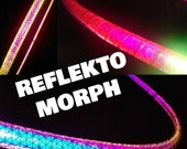 The ReFLeKtO-MoRpH HoOp // Hula Hoop w/ Color Shifting and High Intensity Reflective Tape // Custom Color, Tubing, & Diameter!