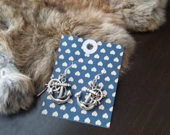 Olivia Paige - Pin up Sailor  rockabilly Anchor wheels  earrings