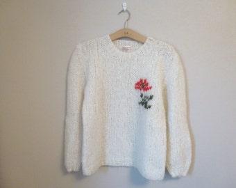 Vintage Swedish wool sweater / Small Medium