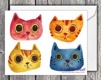 Four Cats - Card Set