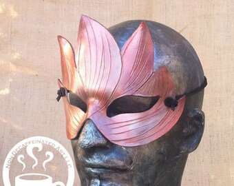 Tree spirit - fairy elf handmade leather mask