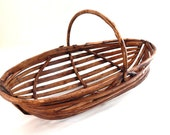 French Vintage Handmade Oyster Basket Rustic and Beautifully Made