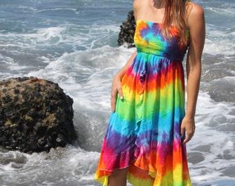 Tie dye Ruffle Convertible skirt to dress