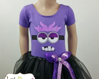 CHILD --Purple Minion Leotard---(Leotard only)