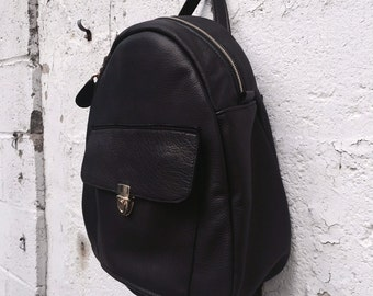 Leather Backpack, Leather Back Pack, Leather Book Bag - Your choice of leather - SO luxurious - Laurel Dasso