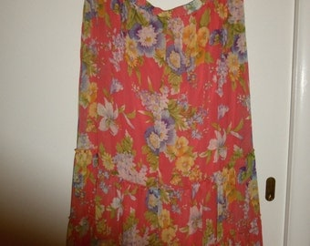 Boho Chic Louis Dell Olio Tier Skirt XL Gorgeous Summer Floral's Retired Collectible  JUST REDUCED