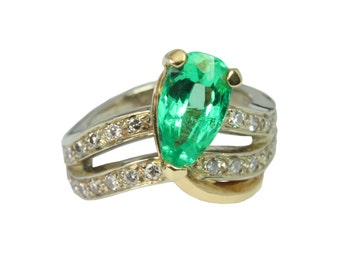 Colombian Emerald and Diamond Ring 2.0cts