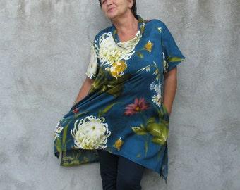 boho tunics...Tops & Tees...blouse top shirt lagenlook tunics Cotton fabric Plus Size tunics XL/XXL