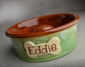 """Personalized Slow Feeder Dog Bowl Single 5-9"""" Made To Order Dog Bowl by Symmetrical Pottery"""