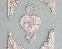 Prima, Shabby Chic Treasures, More Hearts with Corners, Scrapbooking, Card Making, Mixed Media, Scrapbooking Embellishment