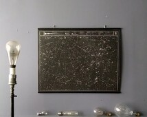Large Star Map, Celestial Chart Wall Hanging