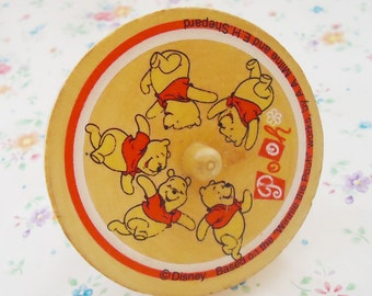 The Disney Winnie the Pooh Wooden Spiral Spinning Top.90s.