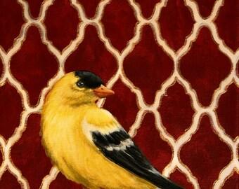 Yellow Finch Original Art Painting