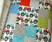 "Baby Quilt - ""Tractor Pull"""