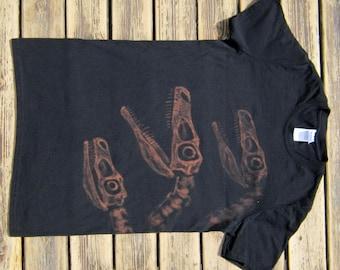 Velociraptor Pack Fossil Dinosaur Shirt  - Bleach Shirt - Made to Order - Jurassic World Tshirt - Dino Skeleton - Paleontology Gift