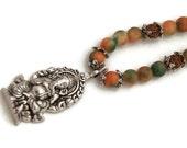 Ganesha necklace, elephant god, spiritual jewelry, yoga jewelry, ganesha pendant, hindu jewelry, bohemian jewelry, ethnic jewelry