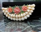 Shell Flower Brooch - ca. 1950s