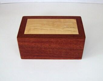 wood jewelry box ladies or mens valet trinket box keepsake box red camaru box elder wood hinged lid office desk storage school supplies