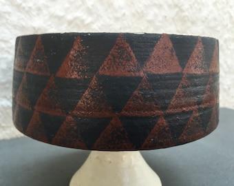 Pedestal Bowl Ceramic Pottery Eames Era
