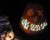 3 packages of Glow in the Dark FANGS   Pumpkinteeth- sm med large