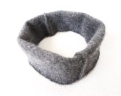 Cashmere Head Band Ear Warmer GRAY Earwarmer Headband Upcycled Sweater Cashmere Hair Accessory Headband or Men and Women by WormeWoole