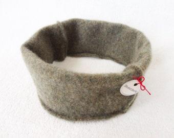 Cashmere Earwarmer Headband LODEN GREEN Ear Warmer Head Band Upcycled Sweater Hair Accessory by WormeWoole