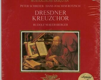 Heinrich Schütz, Musikalische Exequien Concerto in the Form of a German Funeral Mass & Canticum B Philips Import LP Unopened Vintage Record