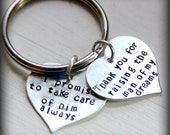 Mother of the Groom Gift | Personalized Mother in Law Keychain | Gift for Grooms Mom | Wedding | Gift |