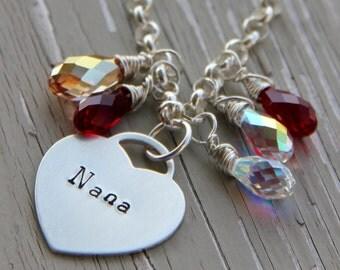 Grandmother Charm Bracelet | Grandmother Bracelet | Bracelet | Gift For Nana | Mom Charm Bracelet | Keepsake Bracelet | Mothers Day