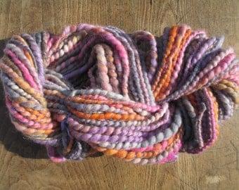Handspun art yarn LAVENDER LUSH 48 yards free U.S. shipping