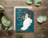 Wedding card - newlyweds - greeting card - engagement