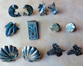 Vintage Lot of Sterling Silver Mexico Jewelry Items