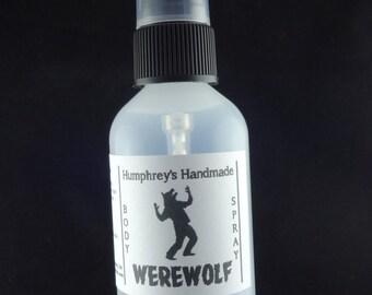 WEREWOLF Men's Body Spray, Citrus Cedar Musk All Natural Perfume Room and Linen Spray 2 oz, Witch Hazel Fragrance Vetiver Patchouli