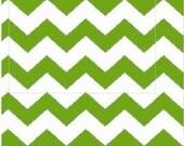 Kelly Green Chevron Fabric, Baby Fabric, Kids Fabric, Green/White Apparel/Quilt Fabric, Baby/Nursery Yardage, Home Decor/Diy Craft Supplies