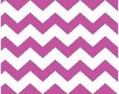 Flamingo Chevron Fabric, Baby Fabric, Kids Fabric, Pink/White Apparel/Quilt Fabric, Baby/Nursery Yardage, Home Decor/Diy Craft Supplies