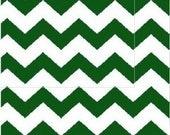 Hunter Green Chevron Fabric, Green/White Apparel/Quilt Fabric, Baby/Nursery Yardage, Home Decor/Diy Craft Supplies, Baby Fabric, Chevron