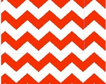 Orange Chevron Fabric, Orange/White Apparel/Quilt Fabric, Baby/Nursery Yardage, Home Decor/Diy Craft Supplies, Baby Fabric, Chevron