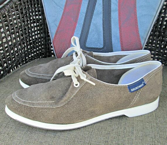 Vintage Brunswick Bowling Shoes Mushroom Brown / Gray Suede