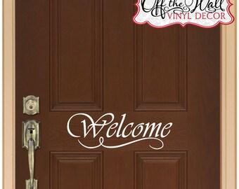 Welcome Front Door Vinyl Lettering Decal Sticker design2