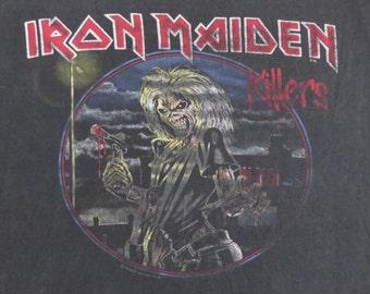 IRON MAIDEN 1982 tour T SHIRT